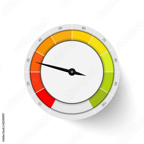 vector percentage rating gauge