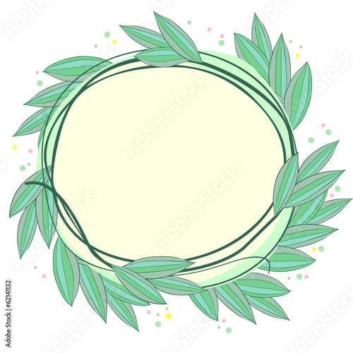 Frame made of leaves