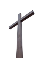 a large wooden cross