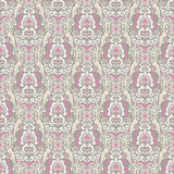 Seamless vector pattern damask pink