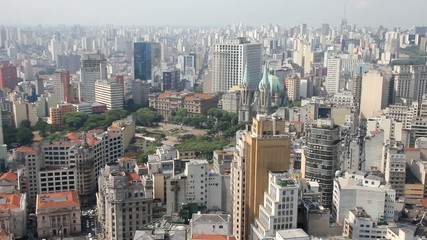 View of Sao Paulo and the Se Cathedral, Brazil