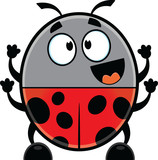 Happy Cartoon Ladybug
