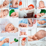 newborn babies photos set