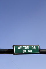 Wilton Drive SR 811 Road Sign