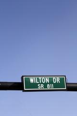 Wilton Drive SR 811 Road Sign