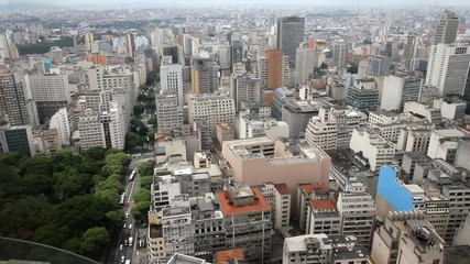 The city of Sao Paulo from the top, Brazil
