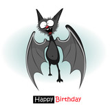Happy Birthday bat smile