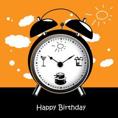 Happy Birthday clock smile