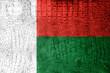 Madagascar Flag painted on luxury crocodile texture