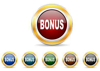 bonus icon vector set