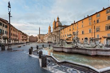 Statua del Nettuno, Piazza Navona. Roma