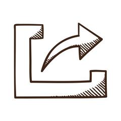 Share upload symbol with arrow.