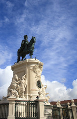 King José I statue at Praça do Comércio in Lisbon