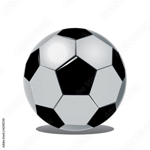 Classic soccer ball isolated on white background