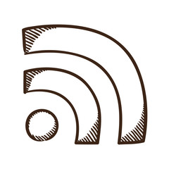 Rss wire connection symbol.