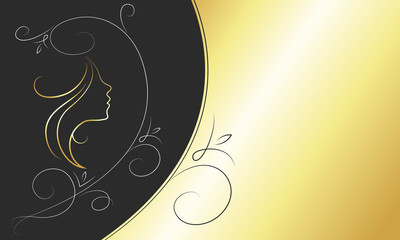 business card for beauty salon and barbershop, vector