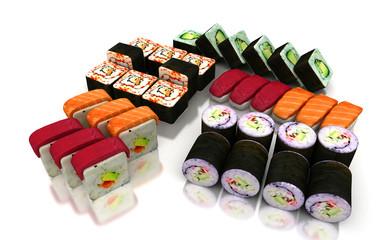 Sushi, surimi, giapponese, pesce, riso