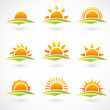 Sunset icons