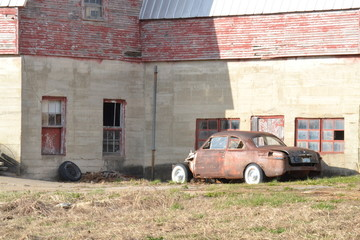 Rusted by the barn
