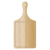 Vector illustration of wood cutting board
