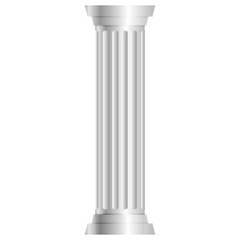 Vector illustration of gray column