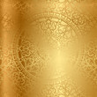 Vector gold background with floral decoration