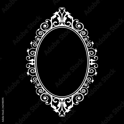 Vector illustration of vintage frame