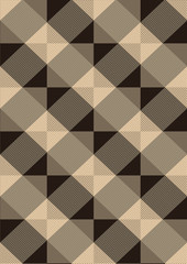 Striped brown rhombuses on a light seamless background