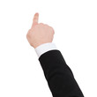 close up of businessman pointing to something