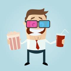 kino 3D popcorn cola mann