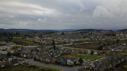 Traffic and Clouds Time Lapse in Happy Valley Oregon