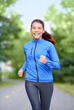 Happy woman runner healthy lifestyle