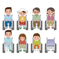 車椅子に座る人々