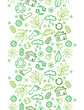 Vector ecology symbols vertical seamless pattern background