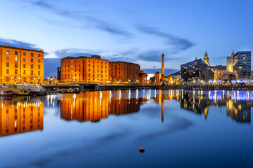 Liverpool city skyline