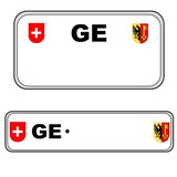 Geneva plate number, Switzerland