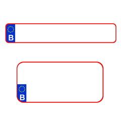 Belgian plate number, Europe