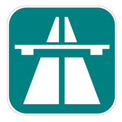 Swiss highway icon