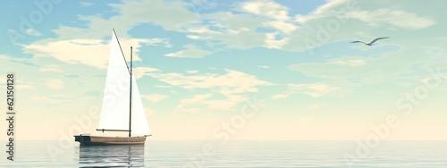 Leinwanddruck Bild Sailing boat - 3D render