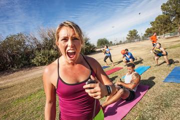 Intimidating Fitness Trainer
