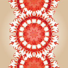 vector delicate lace round pattern