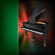 abstract grunge music background with grand piano