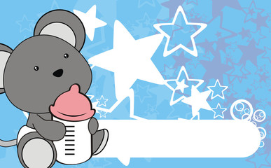 mouse baby cartoon wallpaper vector