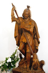 Statue of St. George in the church Jergystolna