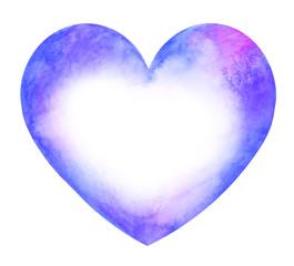 Blue Heart shaped card