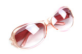 Pink Sunglasses isolated.
