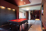 Billard in private interior