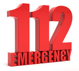 112 emergency call 3d text