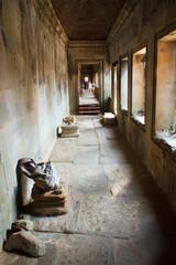 Landscape photo of Classical picture of ancient Combodian  Templ