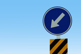 Arrow traffic sign background